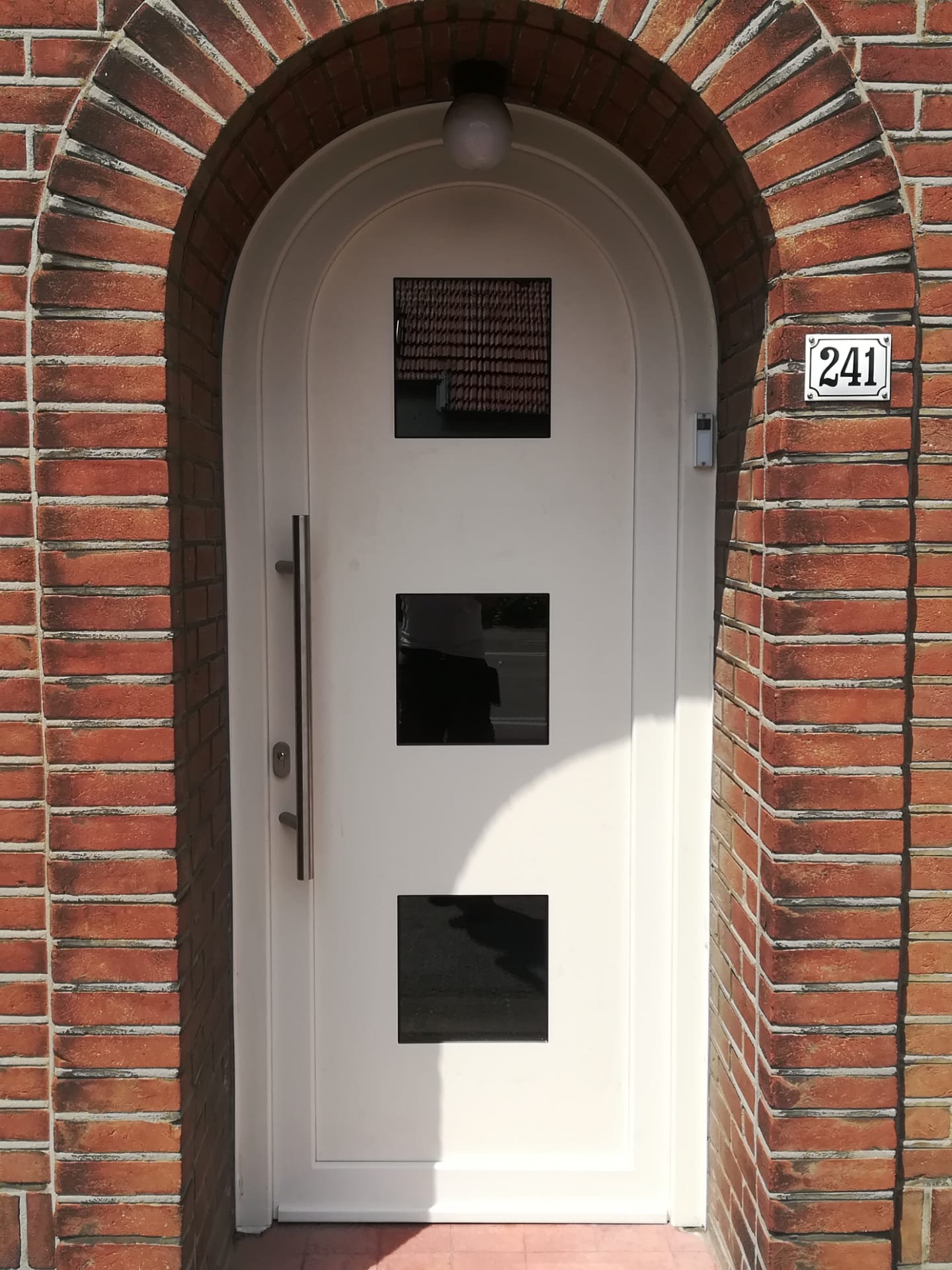Kunststof voordeur met kleine buigingsstraal
